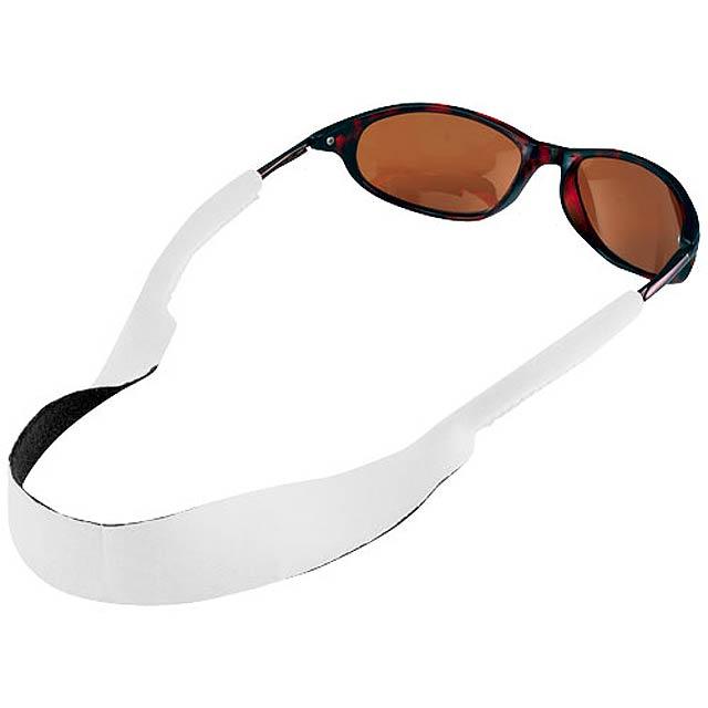 Tropics sunglasses strap - white