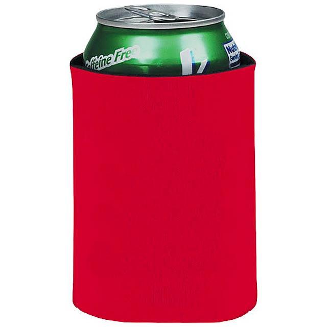 Skládací termoobal na nápoje Crowdio - červená