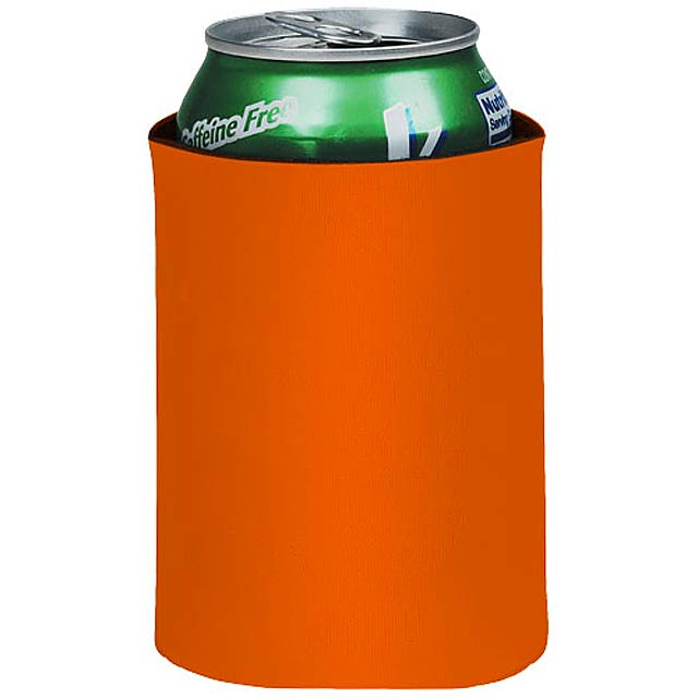 Crowdio collapsible drink insulator - Orange