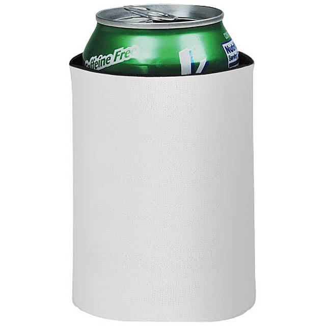 Skládací termoobal na nápoje Crowdio - bílá