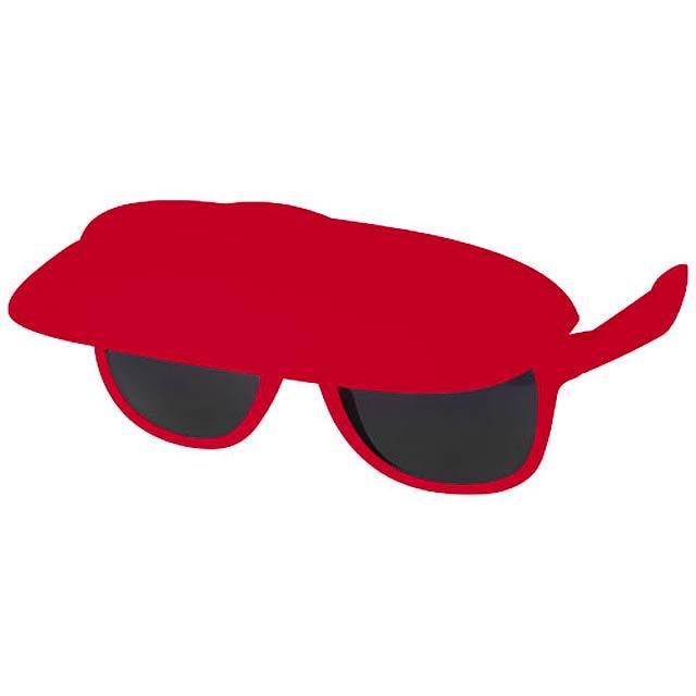 Sluneční brýle Miami s kšiltem - červená