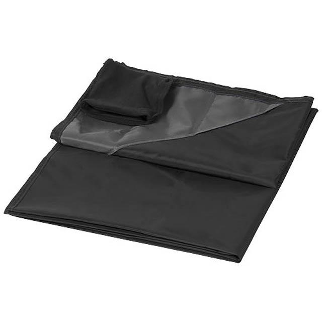 Voděodolná venkovní deka na piknik Stow-and-go - černá