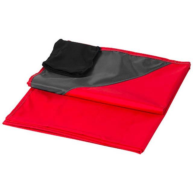 Voděodolná venkovní deka na piknik Stow-and-go - červená