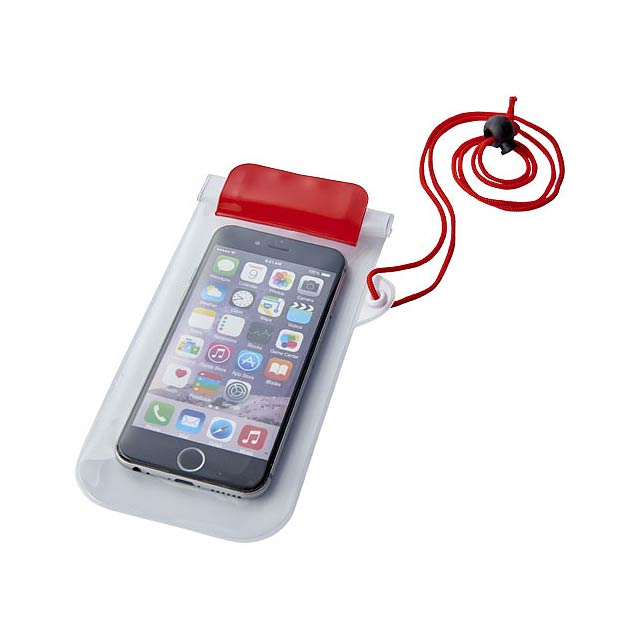 Vodotěsné pouzdro na chytrý telefon Mambo - transparentní červená