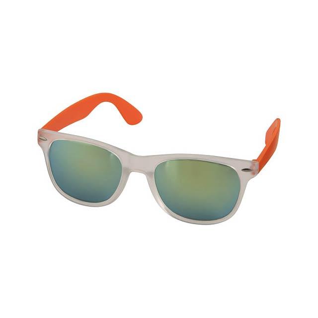 Sluneční brýle Sun Ray se zrcadlovými skly - oranžová