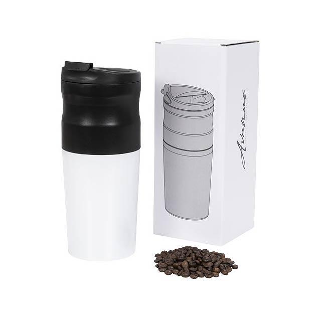 Elektrický, přenosný kávovar vše v jednom - bílá