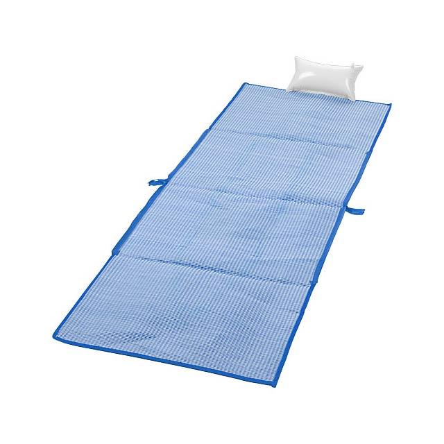 Skládací plážová taška a podložka Bonbini - modrá