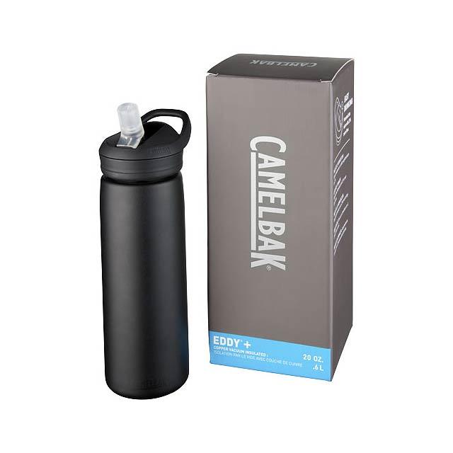 Měděná sportovní láhev Eddy+ 600 ml s vakuovou izolací - černá