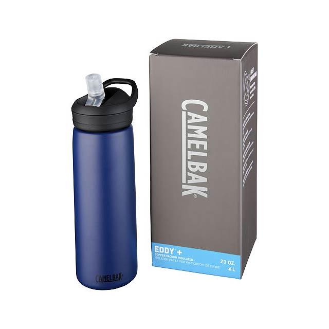 Měděná sportovní láhev Eddy+ 600 ml s vakuovou izolací - modrá