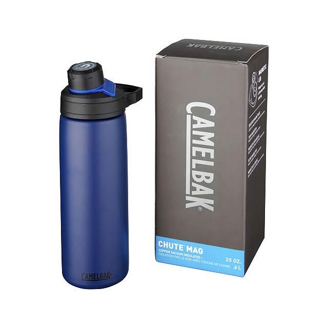 Měděná láhev Chute Mag 600 ml s vakuovou izolací - modrá