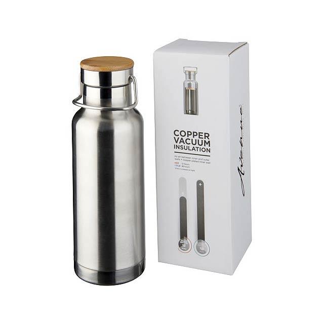 Thor 480 ml sportovní lahev s vakuovo-měděnou izolací - stříbrná