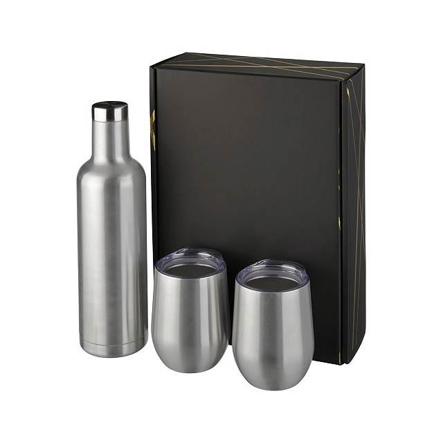 Dárková sada měděných nádob Pinto a Corzo s vakuovou izolací - stříbrná