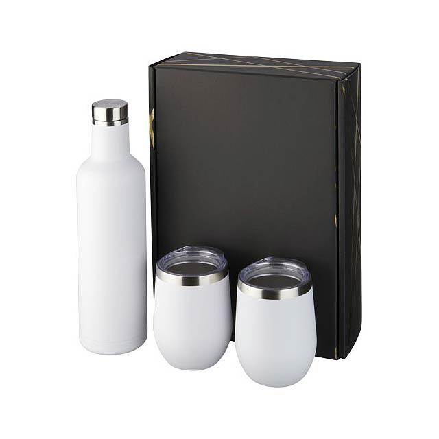 Dárková sada měděných nádob Pinto a Corzo s vakuovou izolací - bílá