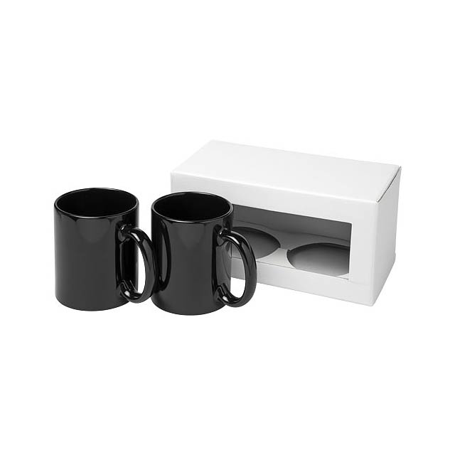 Dárková sada dvou hrnků Ceramic - černá