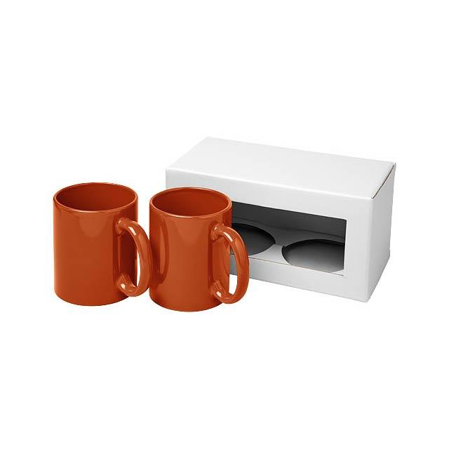 Dárková sada dvou hrnků Ceramic - oranžová