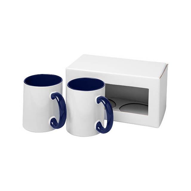 Dárková sada dvou sublimačních hrnků Ceramic - modrá