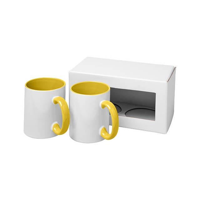Dárková sada dvou sublimačních hrnků Ceramic - žlutá