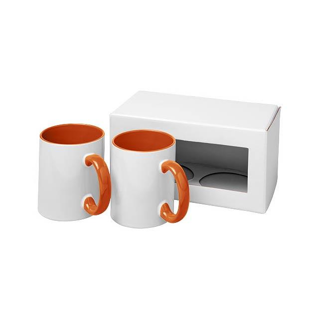 Dárková sada dvou sublimačních hrnků Ceramic - oranžová