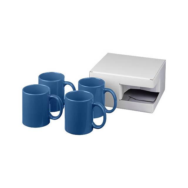 Dárková sada čtyř hrnků Ceramic - modrá