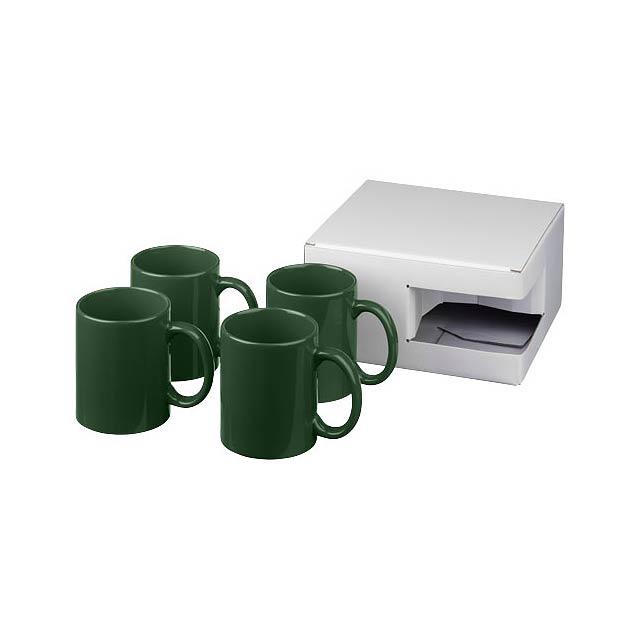 Dárková sada čtyř hrnků Ceramic - zelená