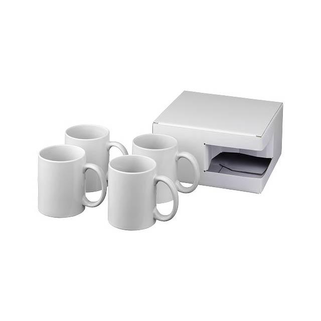 Dárková sada čtyř sublimačních hrnků Ceramic - bílá