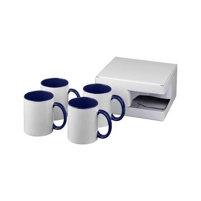 Dárková sada čtyř sublimačních hrnků Ceramic - modrá