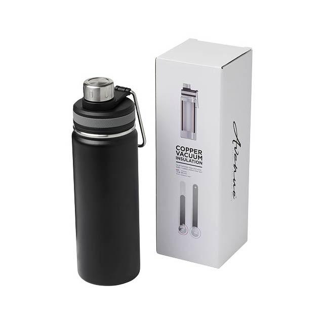 Gessi 590 ml sportovní lahev s vakuovo-měděnou izolací - černá