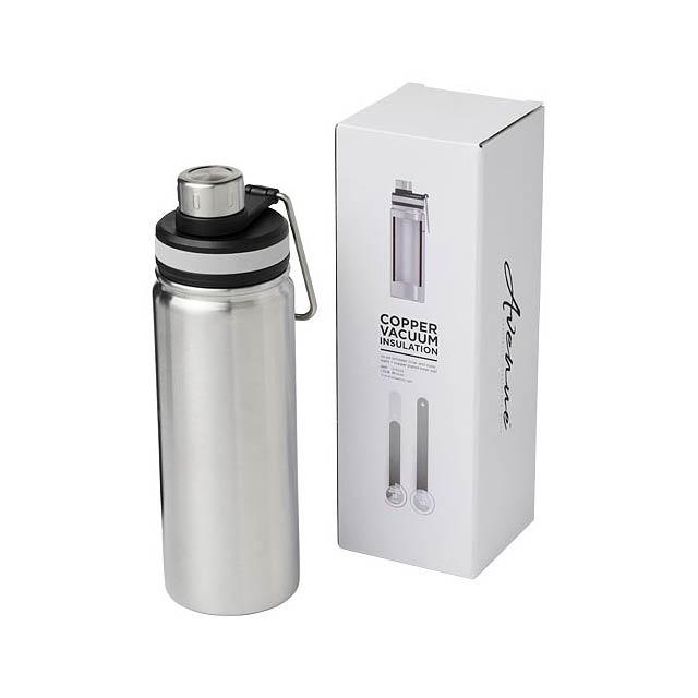 Gessi 590 ml sportovní lahev s vakuovo-měděnou izolací - stříbrná