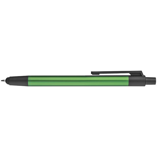 Hliníkové kuličkové pero - zelená