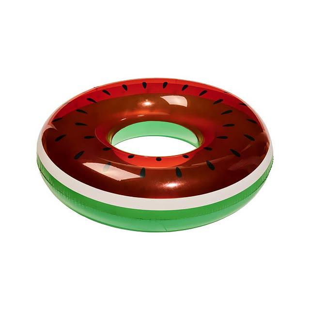 Watermelon nafukovací plavací kruh - multicolor
