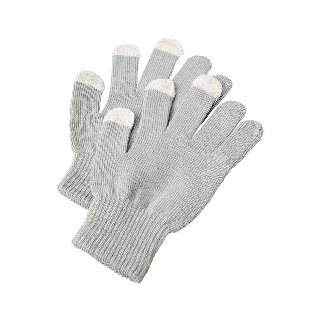 Hmatové rukavice Billy - šedá