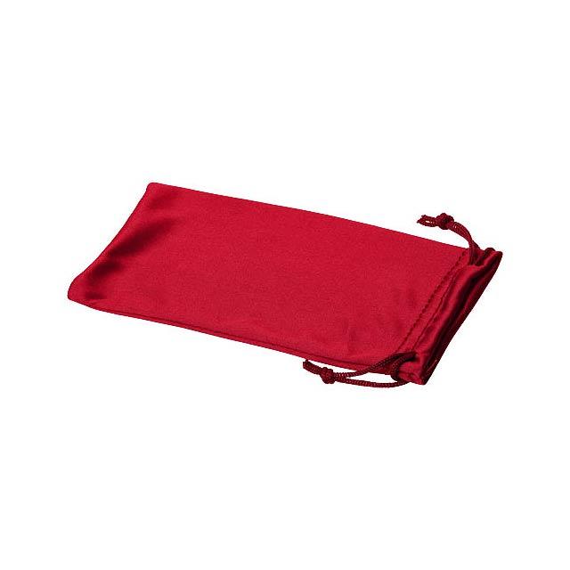Clean sáček z mikrovláken na sluneční brýle - transparentní červená