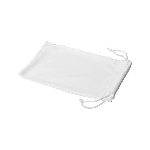 Clean sáček z mikrovláken na sluneční brýle - bílá