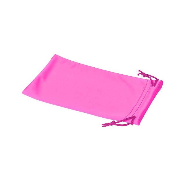 Clean sáček z mikrovláken na sluneční brýle - růžová