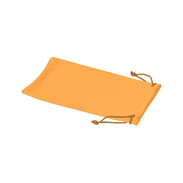 Clean sáček z mikrovláken na sluneční brýle - oranžová