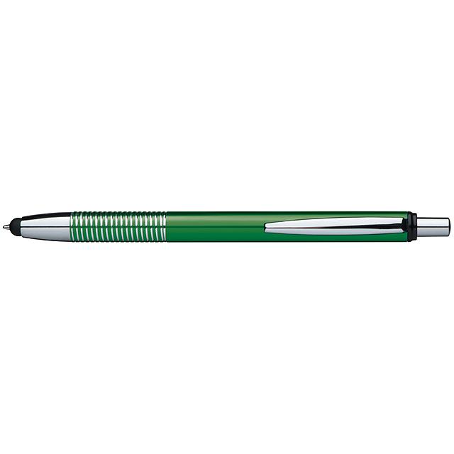 Kovové dotykové kuličkové pero - zelená