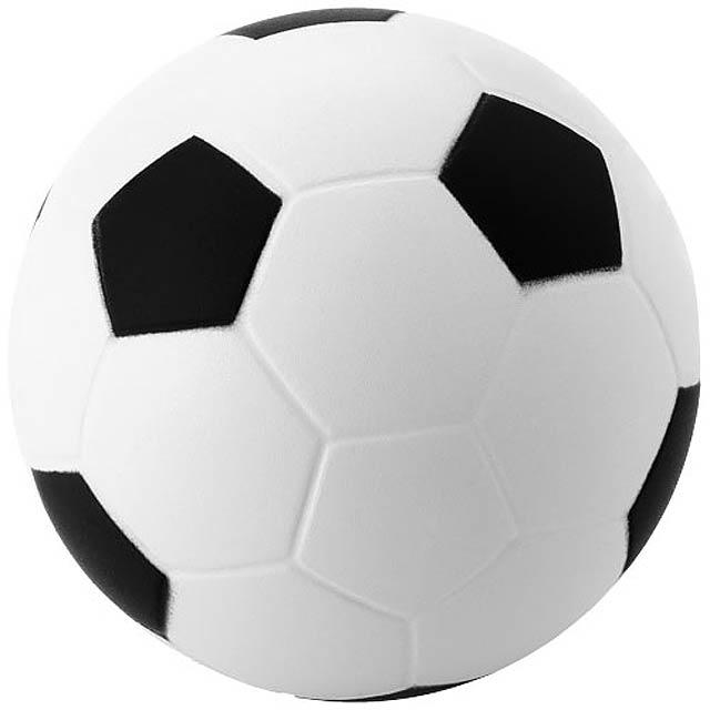 Antistresový míč Football - bílá/černá