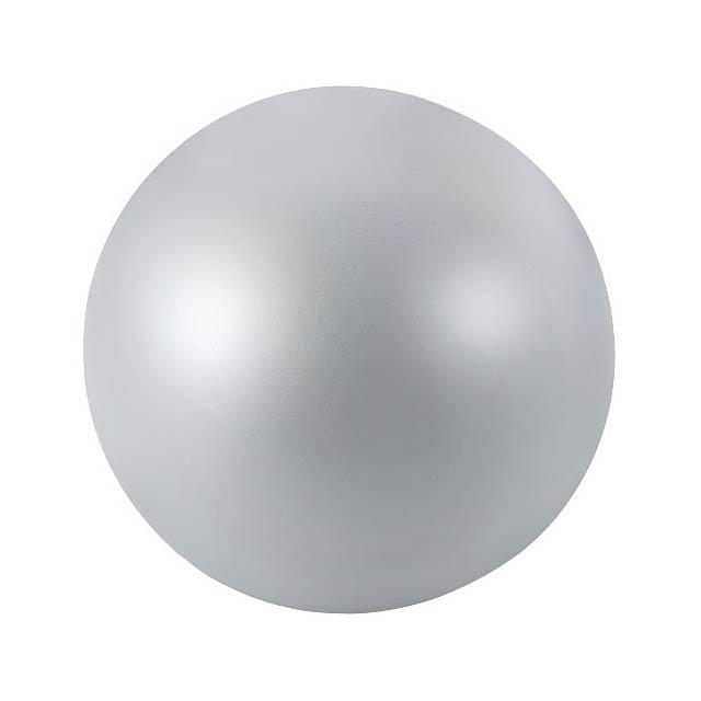 Antistresový míč Cool - stříbrná