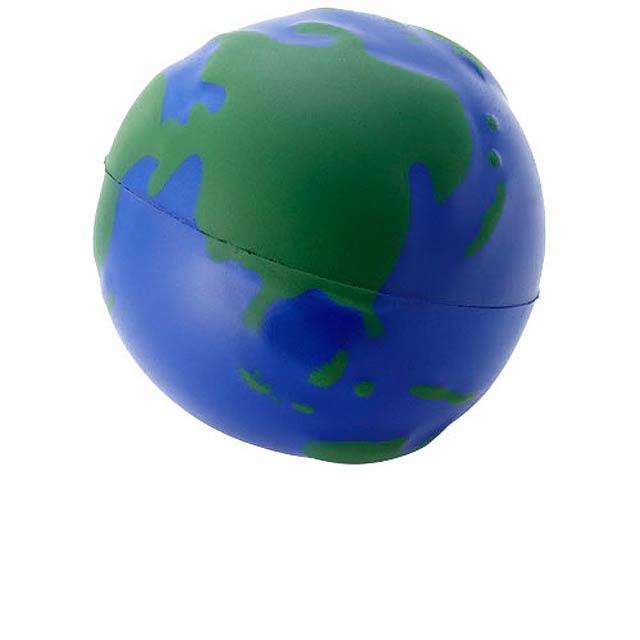 Antistresový glóbus Globe - modrá/zelená