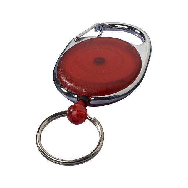 Klíčenka Gerlos s držákem na jmenovku - transparentní červená