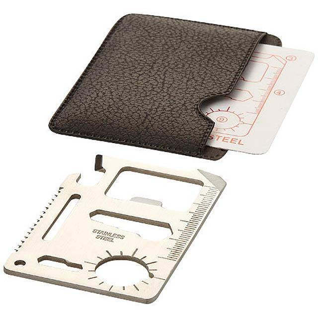 Kapesní karta nástrojů Saki, 15 funkcí - stříbrná
