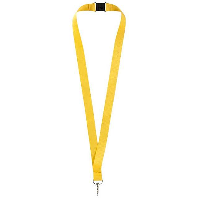 Šnůrka na krk - žlutá