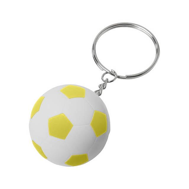 Fotbalový přívěsek na klíče Striker - bílá
