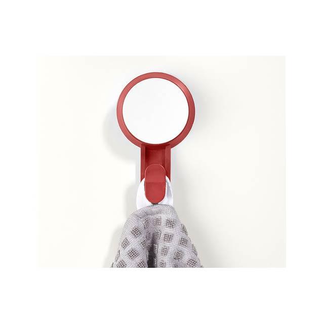 Přísavný háček Stick - transparentní červená