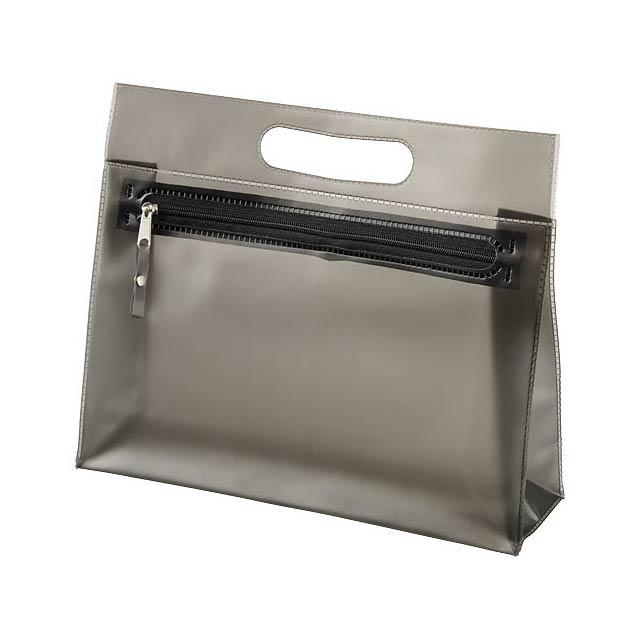 Toaletní taška Paulo z průhledného PVC - černá