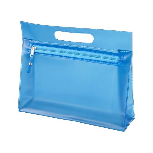 Toaletní taška Paulo z průhledného PVC - modrá