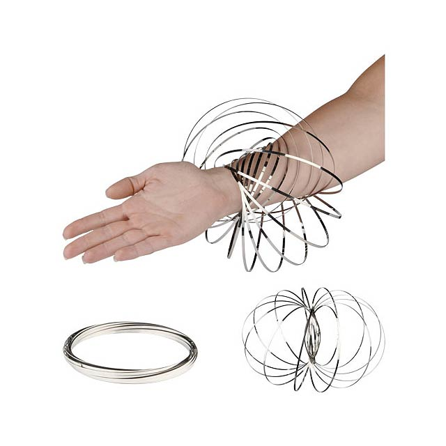 Antistresový prstenec Flow - stříbrná