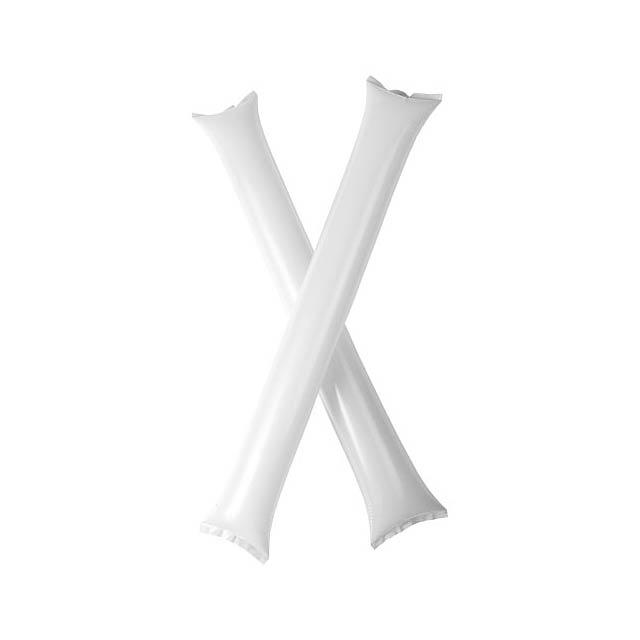 Cheer 2 aufblasbare Klatsch-Stangen - Weiß