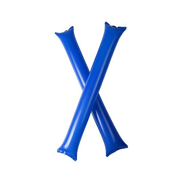 Cheer 2 aufblasbare Klatsch-Stangen - blau
