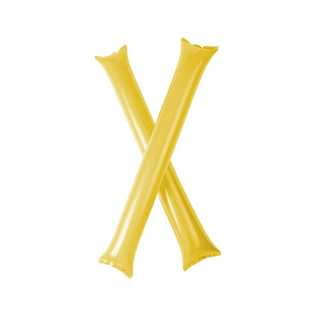 Cheer 2 aufblasbare Klatsch-Stangen - Gelb
